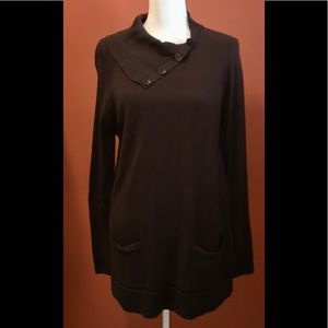 JEANNE PIERRE LONG SWEATER with POCKETS